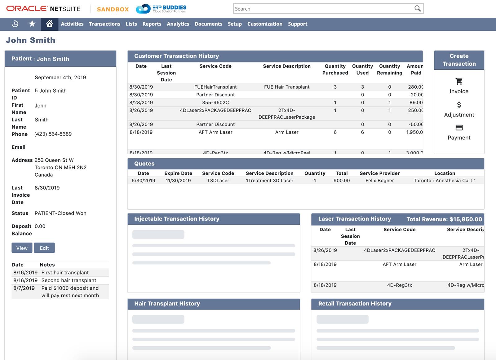 NetSuite & EMR Integration